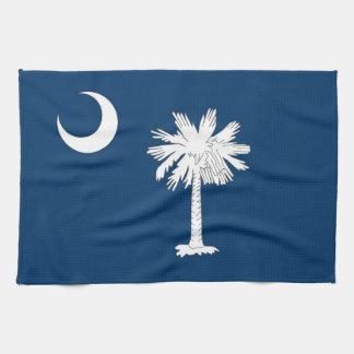 Kitchen towel with Flag of South Carolina, U.S.A.