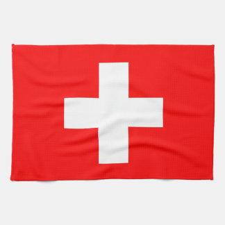 Kitchen towel with Flag of Switzerland
