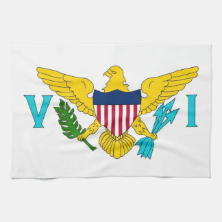 Kitchen towel with Flag of Virgin Islands, U.S.A.