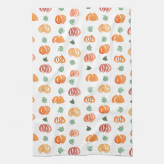 Kitchen towel with pumpkins and leaves