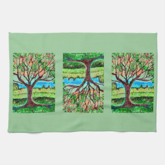 Kitchen Towel with Tree Art
