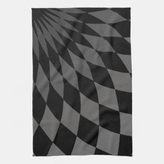 Kitchen Towel  Wonderland Floor Bandersnatch Grey