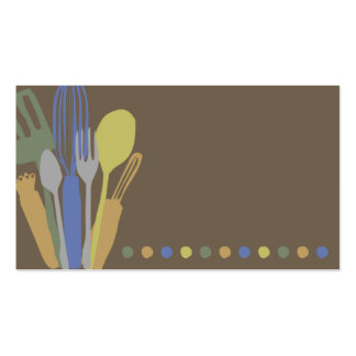kitchen utensils chef catering business card