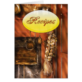 Kitchen - Utensils - Garlic and Spoons Greeting Card