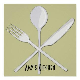 """Kitchen Utensils Poster (20""""x20"""")"""