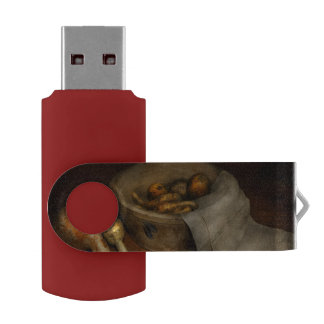 Kitchen - Vegetable - A still life with gourds Swivel USB 2.0 Flash Drive