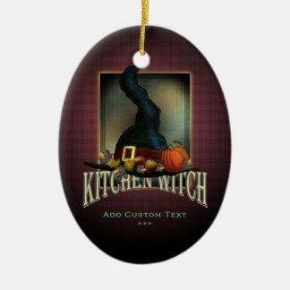 Kitchen Witch Ceramic Ornament