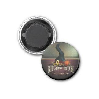 Kitchen Witch 3 Cm Round Magnet
