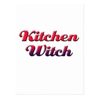 kitchen witch postcard