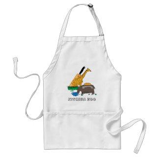 Kitchen Zoo (Giraffe and Hippopotamus) Standard Apron
