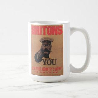 """""""Kitchener Wants You"""" Poster Basic White Mug"""