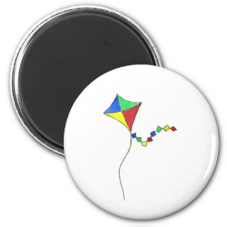 Kite 6 Cm Round Magnet