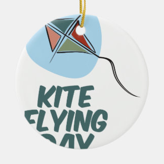 Kite Flying Day - 8th February Ceramic Ornament