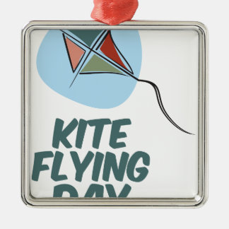 Kite Flying Day - 8th February Metal Ornament