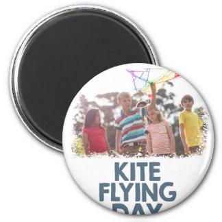 Kite Flying Day  - Appreciation Day 6 Cm Round Magnet