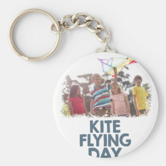 Kite Flying Day  - Appreciation Day Basic Round Button Key Ring