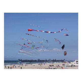 Kite Flying on the Beach Postcard
