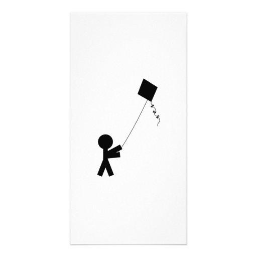 Kite Flying Custom Photo Card