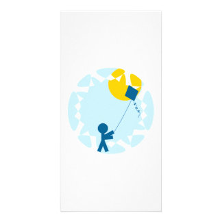 Kite Flying Photo Card