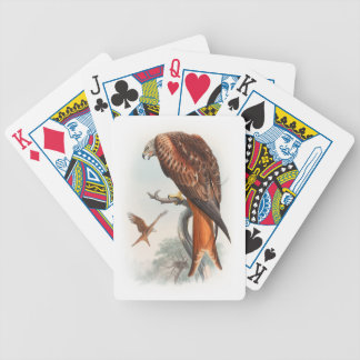Kite Glead Hawk John Gould Birds of Great Britain Bicycle Playing Cards