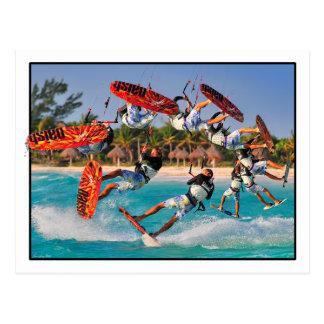 Kite Surfer Back-roll Post Card