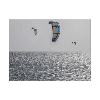 Kite surfers canvas print