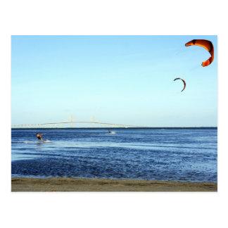 Kite Surfing Postcard