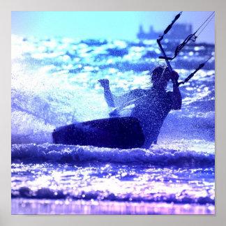 Kite Surfing Poster Print