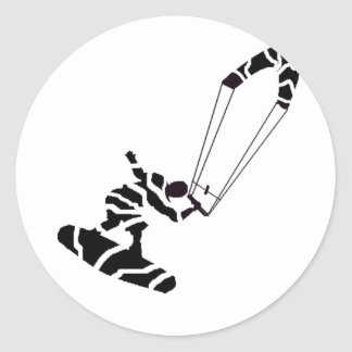 Kiteboard Groove Round Sticker