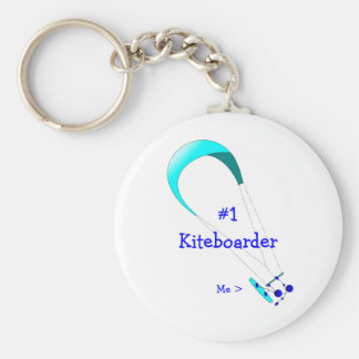 Kiteboarding Kitesurfing Gifts Basic Round Button Key Ring