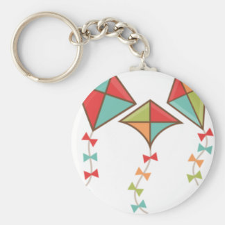 Kites Basic Round Button Key Ring
