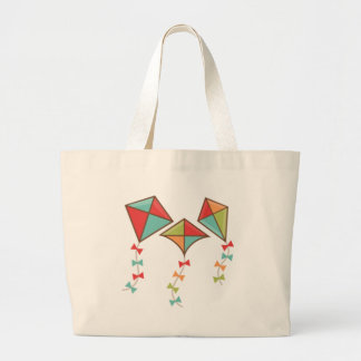 Kites  colorful large tote bag