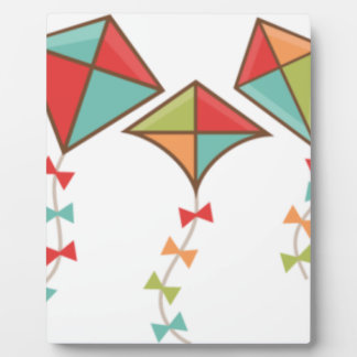 Kites  colorful plaque