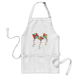 Kites  colorful standard apron