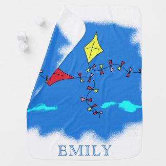 Kites in the Blue Sky Name Baby Blanket