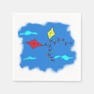 Kites in the Blue Sky Paper Napkins