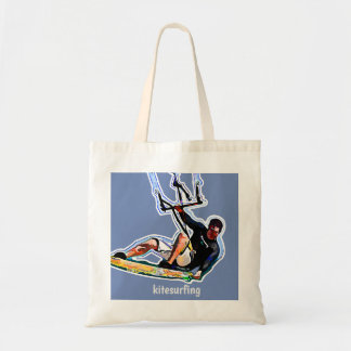 Kitesurfing athlete tote bag