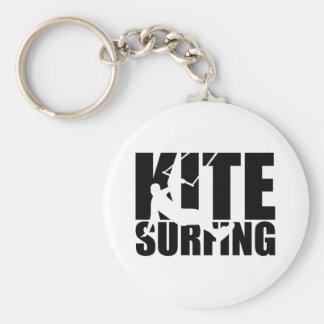 Kitesurfing Basic Round Button Key Ring