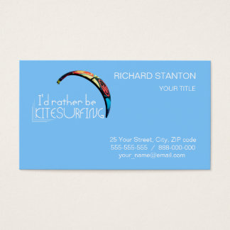 Kitesurfing Business Card