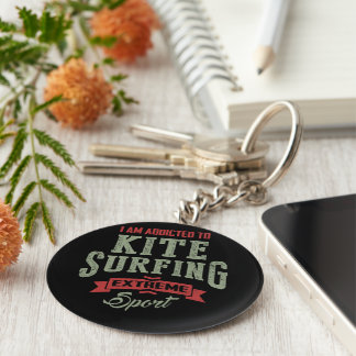 Kitesurfing Gift Ideas Basic Round Button Key Ring