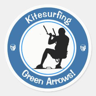 Kitesurfing Master Classic Round Sticker