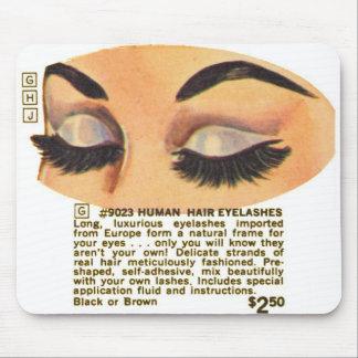 Kitsch Vintage '100% Human Eyelasses' Ad Mouse Pad