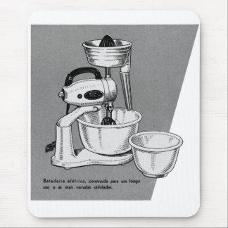 Kitsch Vintage Appliance 'The Mixer' Mouse Pad
