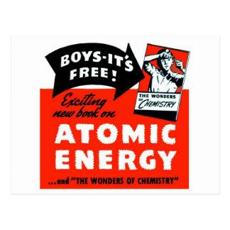 Kitsch Vintage Atomic Energy For Kids! Postcard