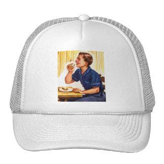 Kitsch Vintage Bacon Sarnie Sandwich Mesh Hat