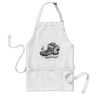 Kitsch Vintage Breakfast Toaster 'Happy Breakfast' Standard Apron