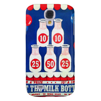 Kitsch Vintage Carnival Game Hit The Milk Bottle Samsung Galaxy S4 Cover
