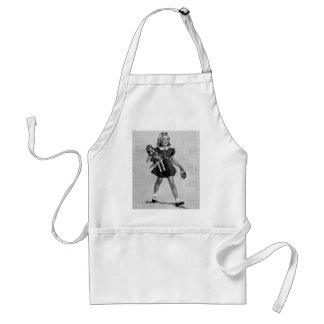 Kitsch Vintage Children Kids 'Happy Girl' Standard Apron
