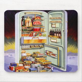 Kitsch Vintage Classic Refrigerator 'Full Fridge' Mouse Pad