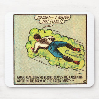Kitsch Vintage Comic Aman Mouse Pad
